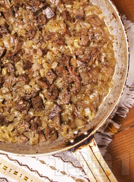 Печен ориз с варен агнешки черен дроб и джоджен на фурна - снимка на рецептата